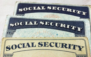 U.S. Social Security card designs over the past several decades are shown in this photo illustration taken in Toronto, Canada on January 7, 2017.  REUTERS/Hyungwon Kang - RC1E446C7870